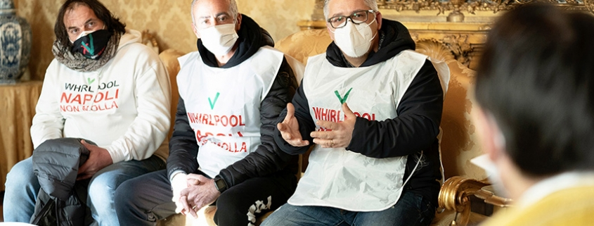 Whirlpool, el presidente Conte recibe a los trabajadores