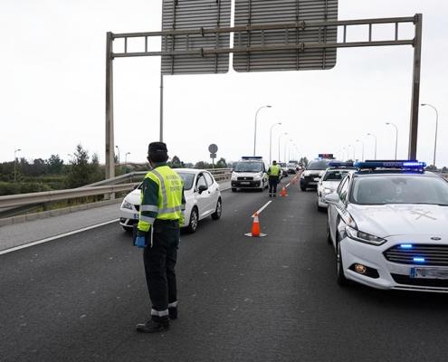 Cinco heridos en una colisión múltiple en la autovía A-7 en Almería