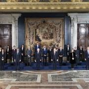 Los ministros del gobierno de Draghi