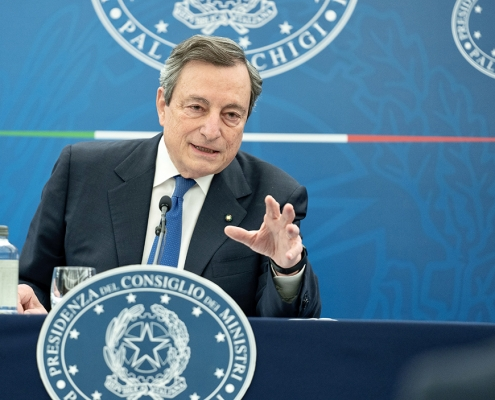 Conferencia de prensa del presidente Draghi