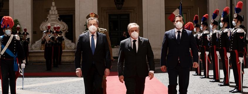 El presidente Draghi se reúne con los capitanes regentes de la República de San Marino