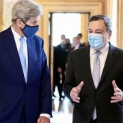 Draghi se reúne con el enviado especial del presidente de los Estados Unidos para el clima, John Kerry