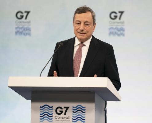 Primer Ministro Draghi en la Cumbre del G7