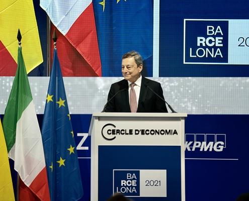 El presidente Draghi visita España