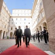 El presidente Draghi se reúne con el presidente del Consejo de la República de Irak, Mustafa Al-Kadhimi
