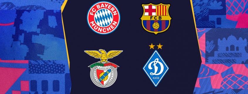 El Bayern de Múnich, el Benfica y el Dinamo de Kiev, los rivales del FC Barcelona en la fase de grupos de la Champions 21/22