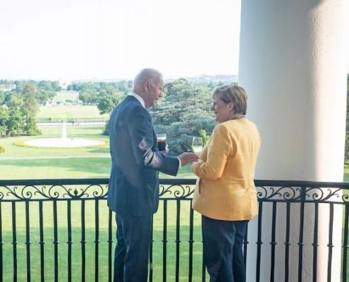 Merkel y Biden acuerdan estrecha cooperación