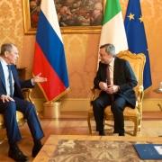 El presidente Draghi se reúne con el ministro de Relaciones Exteriores de la Federación de Rusia