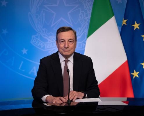 "ONU, el presidente Draghi habla en la ""Cumbre Global Covid-19"""