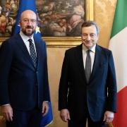Draghi se reúne con el presidente del Consejo Europeo Michel